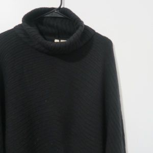 Anthropologie Moth Ribbed Cowl Neck Sweater